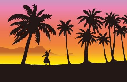 日サロで夏肌にしてでフラダンス